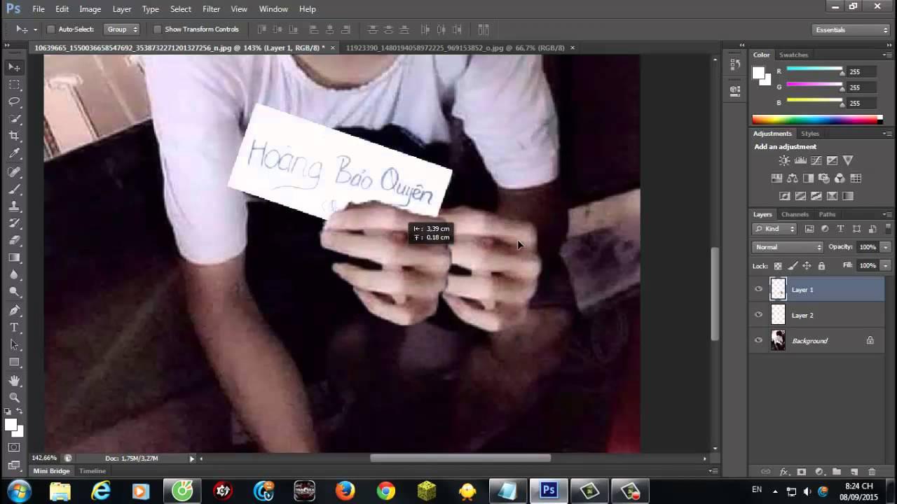 Bài 21: Ghép hình làm F.s bằng photoshop đơn giản
