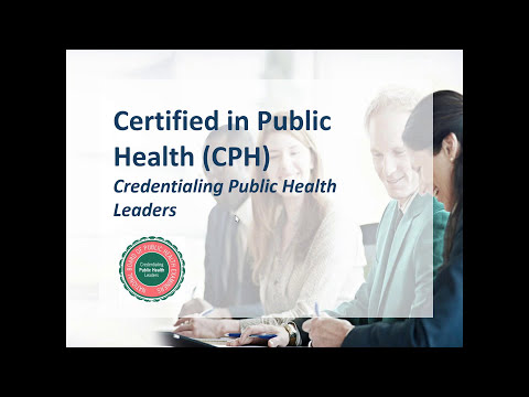 Certified in Public Health CPH - Public Health Foundation