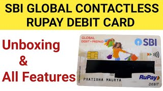 SBI Global Contactless Rupay Debit Card Unboxing and All Features