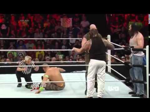 John Cena, Dean Ambrose & Roman Reigns vs The Wyatt Family