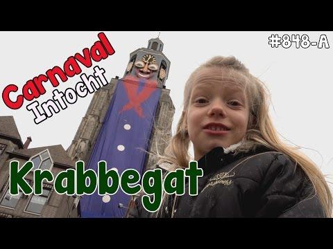 CARNAVAL intocht te BERGEN OP ZOOM met Bobbi-lee. Ook wel KRABBEGAT genaamd. #848-A