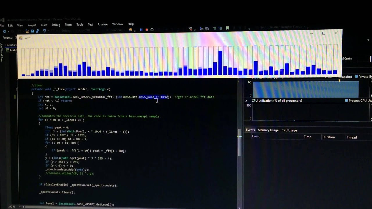 Audio Spectrum Software [C#]: 3 Steps
