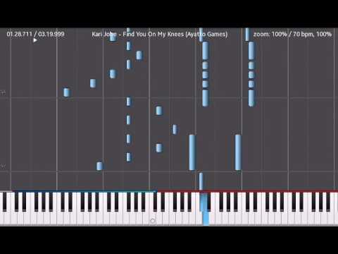 Kari Jobe - Find You On My Knees Synthesia Piano Tutorial - YouTube