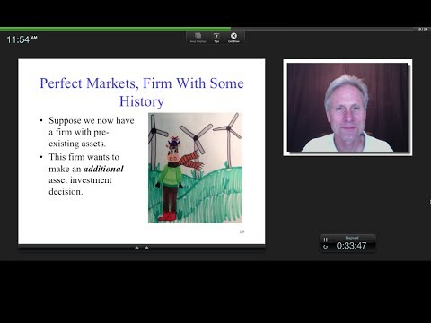 The Discount Rate for the Asset Investment Decision (WACC), James Tompkins