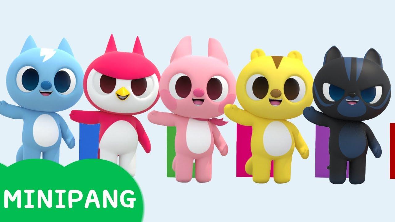 [미니팡 에스파냐] 미니특공대 | 숫자도미노 놀이 | 색깔놀이 | 숫자놀이 | 에스파냐어 | 스페인어| Color play | Mini-Pang TV 3D Play