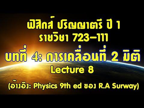 CH4 การเคลื่อนที่ใน 2 มิติ lecture8