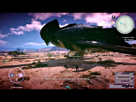 FINAL FANTASY XV - Giant Bird Bennu Lvl. 55 Boss Fight l PS4 Pro