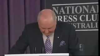 Alan Jones taler til The National Press Club