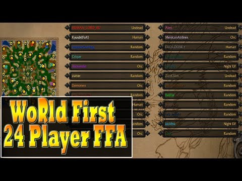 Warcraft 3 - WORLD FIRST 24 Player FFA