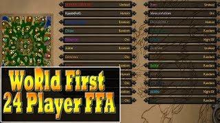 Warcraft 3 - WORLD FIRST 24 Player FFA