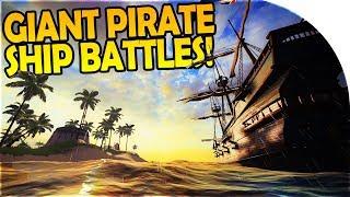 GIANT PIRATE SHIP BATTLES, FORT ATTACK, TREASURE - Pirate Ship Simulator - Blackwake Gameplay Part 1