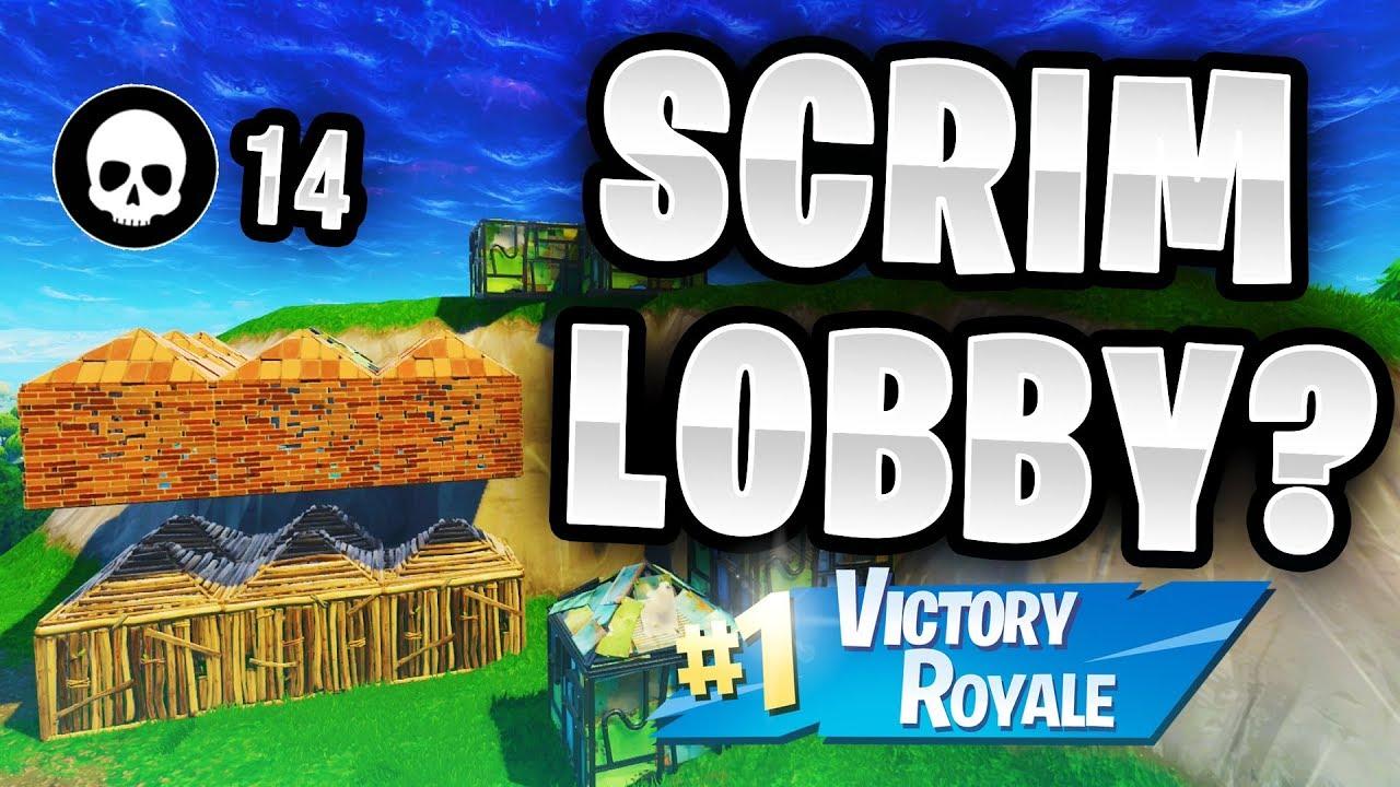 So I Accidentally Queued Into A Scrim Lobby Fortnite Battle