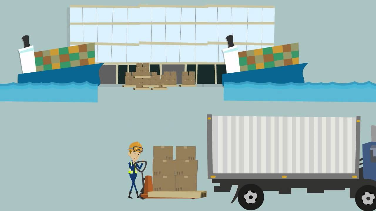 Freight Supply Chain Animation Youtube
