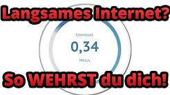 Internet langsam trotz guter Verbindung - Was tun? Sonderkündigung? Internetgeschwindigkeit prüfen