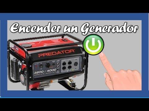 Como encender un GENERADOR DE ELECTRICIDAD PREDATOR