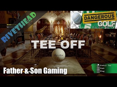 """Dangerous Golf"" With my son Lychee - ""Tee Off goes Boom!"""