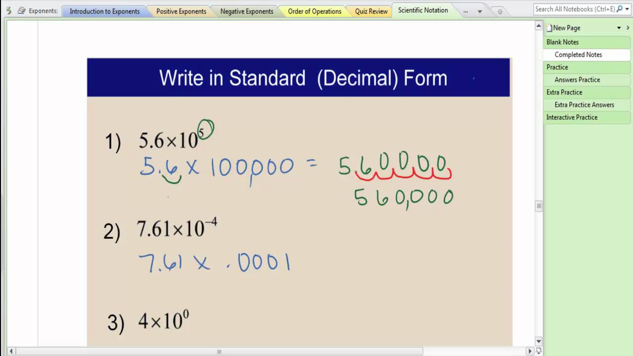 Converting scientific notation to standard form youtube converting scientific notation to standard form falaconquin