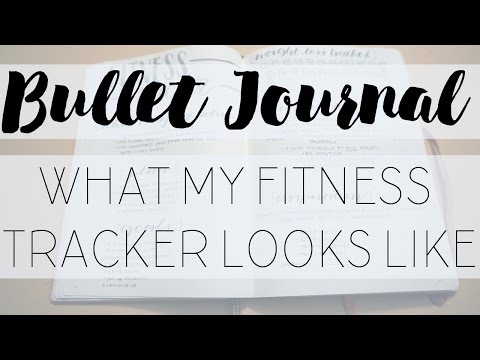 Bullet Journal Fitness Spread | My PERSONAL Fitness Tracker