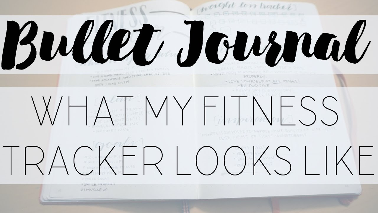 bullet journal fitness spread my personal fitness tracker youtube