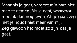 Kenny B -  Als je gaat ( Lyrics ) HD