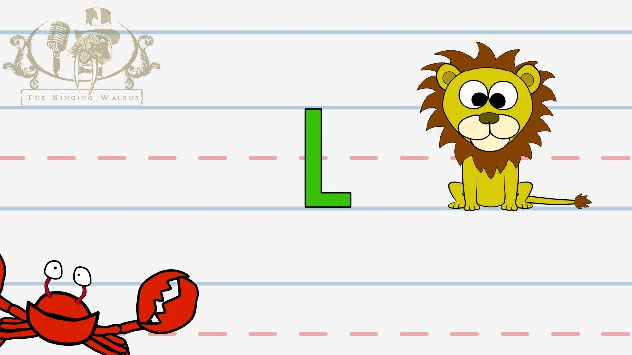 Write The Letter L  Alphabet Writing Lesson For Children  The