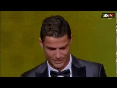 Cristiano Ronaldo crying after winning Balon D'or 2013|by IsaacFutbol4hd