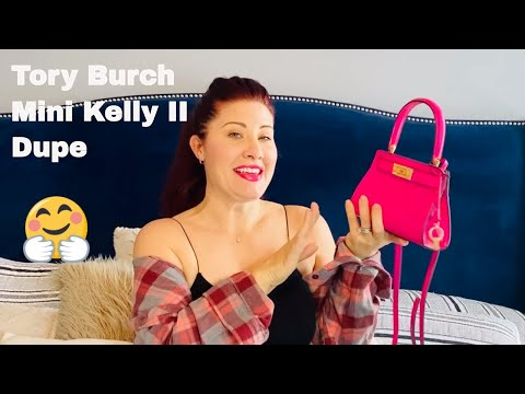 Hermes Kelly Mini II Tory Burch Dupe | First impressions what fits.