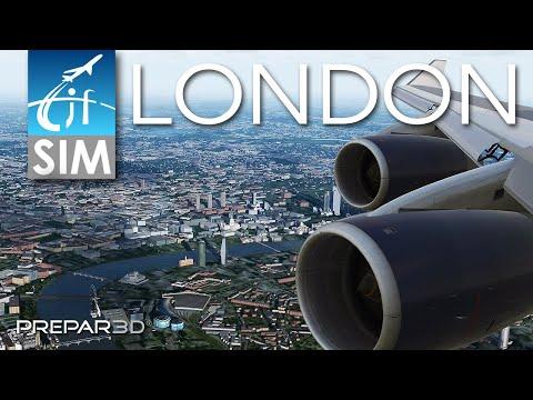 Prepar3D V4.5 | Stunning Approach Over London | British Airways Boeing 747-400 | PMDG/ORBX/Aerosoft