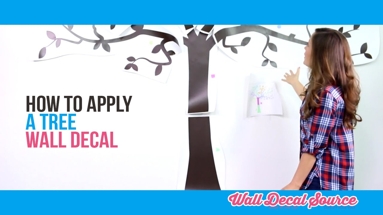 How to apply a wall decal youtube how to apply a wall decal amipublicfo Gallery