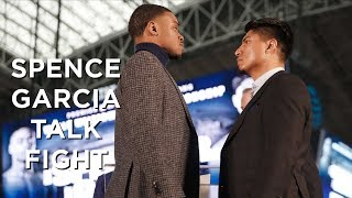 Errol Spence Jr and Mikey Garcia talk about fight at AT&T Stadium
