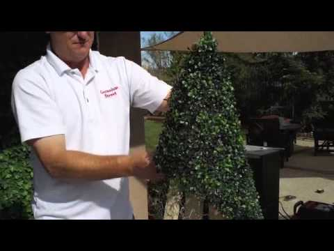 Artificial Boxwood Christmas Trees - YouTube
