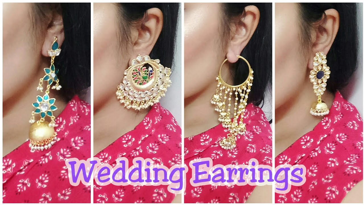 Indian Wedding Guest Jewelry My Traditional Earrings Collection Stop And Fashion
