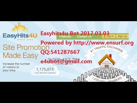 Easyhits4u Bot 2017.03.03 100% work