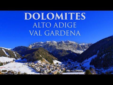 Skiing in the Italian Dolomites - Alto Adige - Sci nella Val Gardena -  Dolomiti 2017