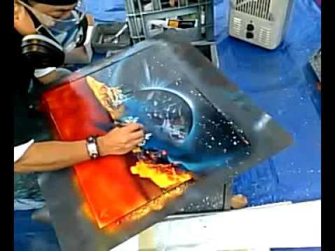 Pinturas impresionantes con aerosol youtube - Pintura con spray ...