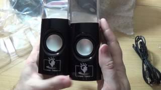 """Посылка № 255. Колонки с """"танцующими"""" фонтанами (Dancing Water Speakers). Распаковка и обзор."""