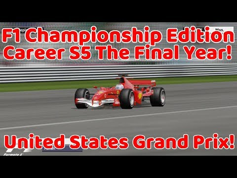 F1 Championship Editiom Career S5 The Final Year! United States Grand Prix!