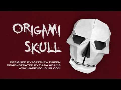 Halloween Origami Tutorial: Skull (Matthew Green)