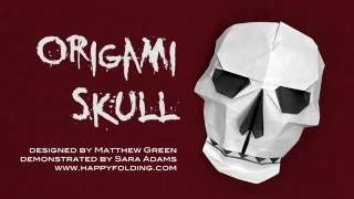 Halloween Origami Tutorial: Skull (Matthew Green)
