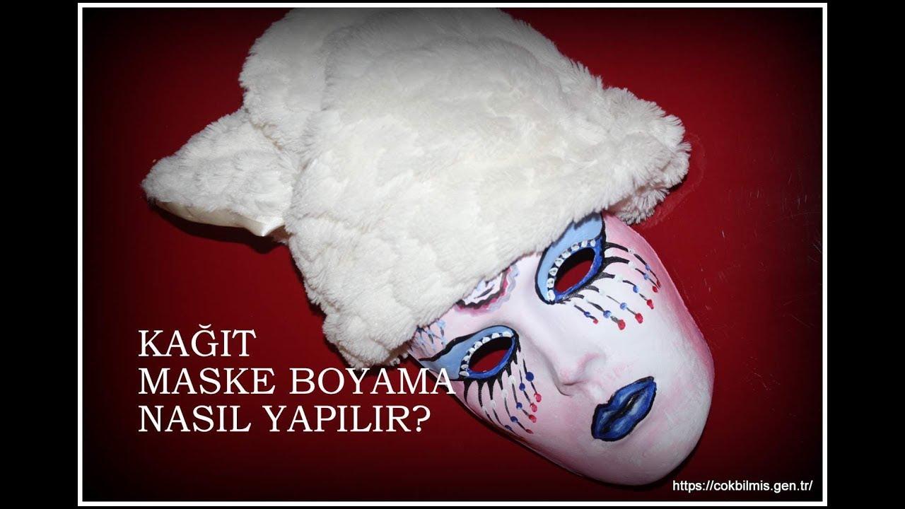 Kagit Maske Boyama Nasil Yapilir Mask Painting For Kids Youtube
