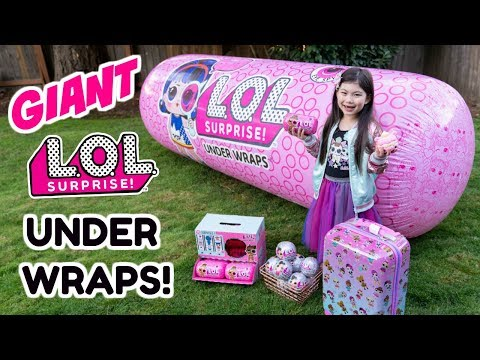 GIANT LOL SURPRISE UNDER WRAPS BALL! Series 4 Wave 2 Eye Spy Bling Series Poopsie Surprise Unicorn +