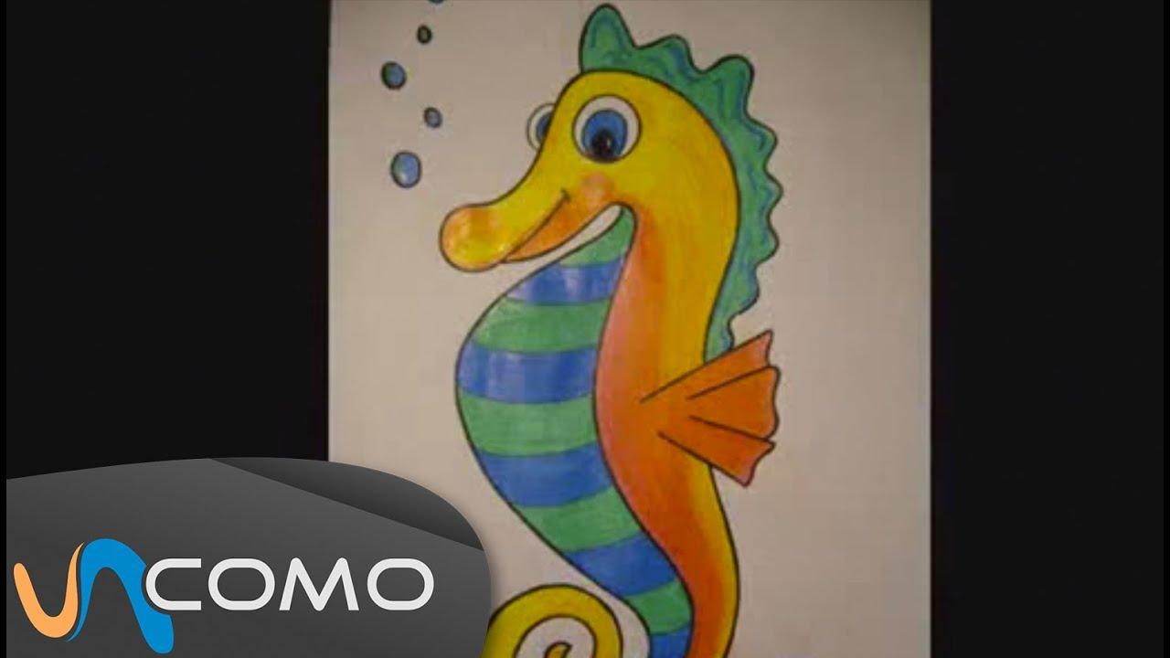 Dibujar Un Caballito De Mar