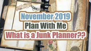 November 2019 Plan With Me | Junk Planning | Bullet Journal