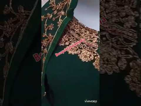 Green Color Anarkali Baju India Customer Order