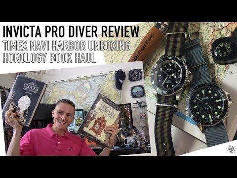 Invicta Pro Diver Review, Horology & Oris Book Haul & Timex Navi Harbor Unboxing