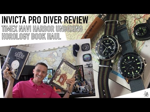 Invicta Pro Diver Review, Horology & Oris Book Haul & Timex Navi Harbor Unboxing