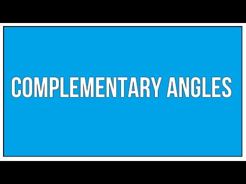 What Are Complementary Angles - An Introduction / Maths Geometry