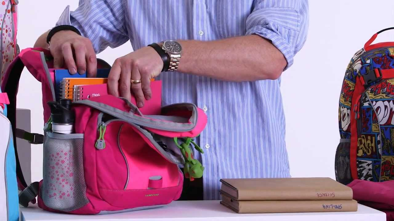 44f522014 Lands' End® ClassMate Medium Backpack - YouTube