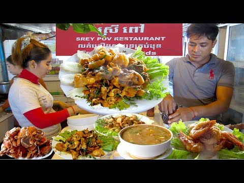 Lunch at Srey Pov Restaurant at Kep Beach in Cambodia | I Like Seafoods