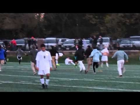 AC at SP playoff soccer clip 1; Tre Pulliam gets the golden goal  11 3 14